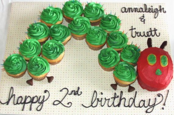 The Very Hungry Caterpillar Birthday Cake