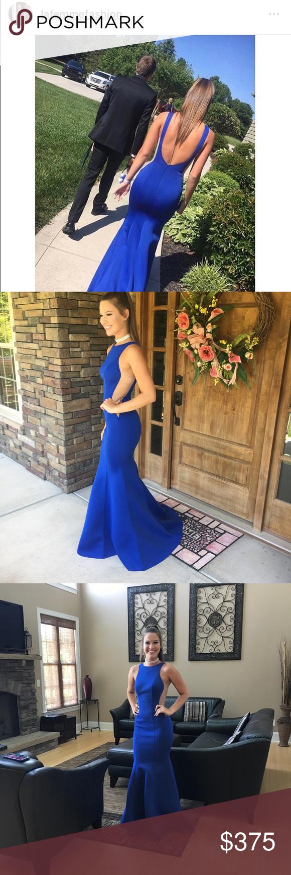 La femme royal blue prom dress size royal blue prom and royals