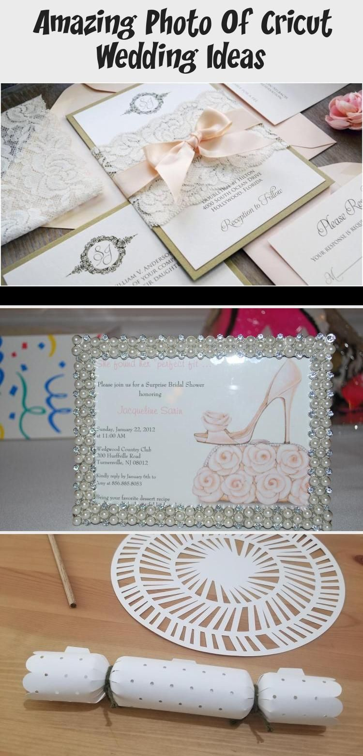 Cricut Wedding Ideas Cricut Invitation Ideas Best in 2020
