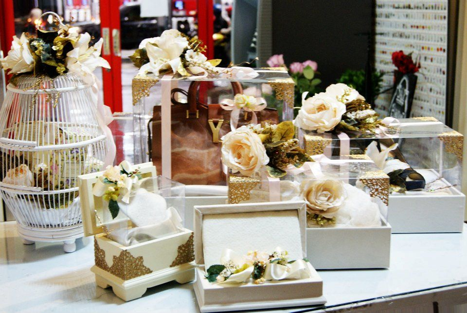 Wedding Gift Collection Boxes: Ivory Seserahan Collection #wedding #gift #boxes