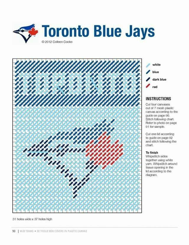 Pin von Jennifer Riccius auf MLB Tissue Box Pattern Book | Pinterest