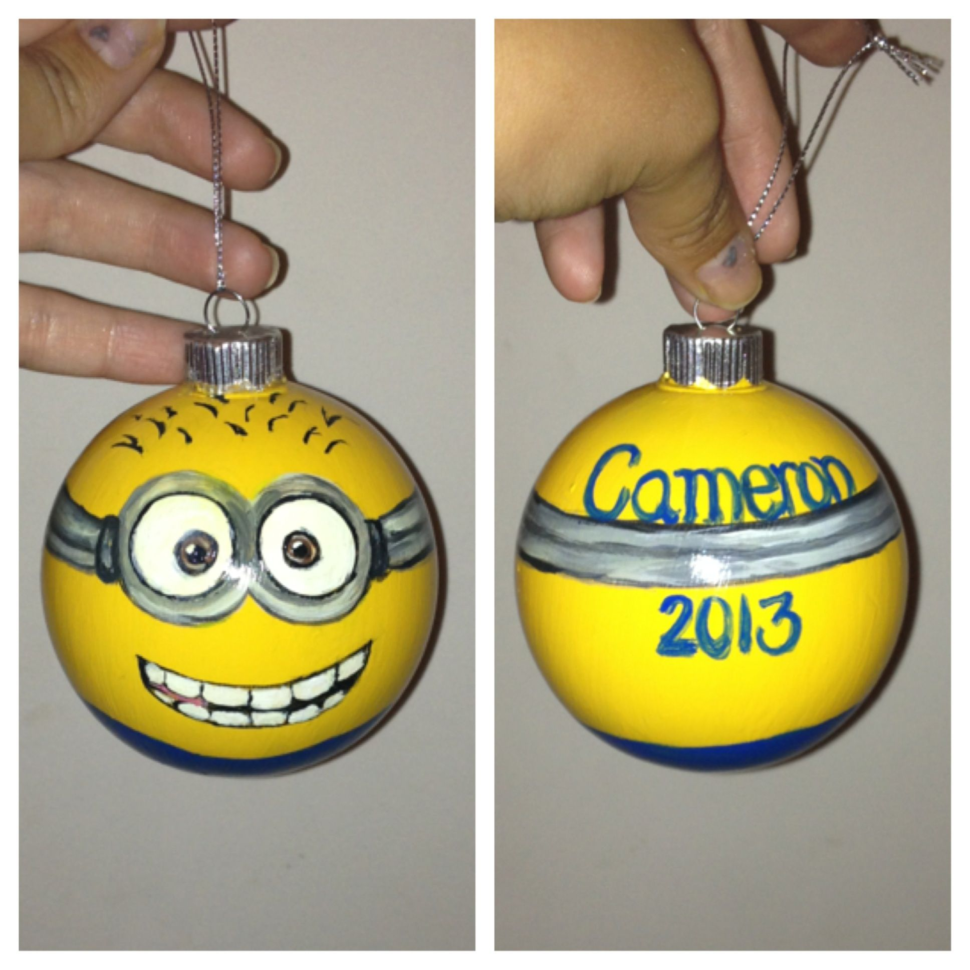 Minion Ornament I Painted :)... My Facebook Page Is Called