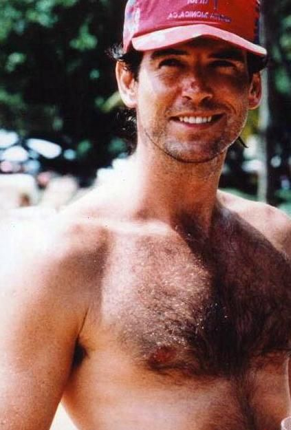 chest Pierce brosnan hairy