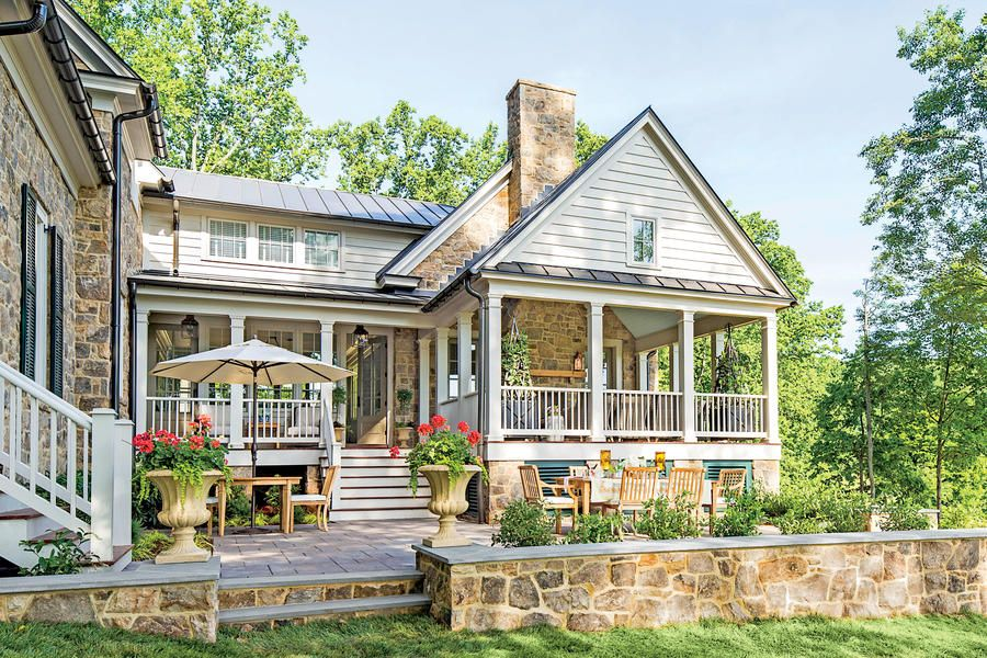 Exterior - 2015 Charlottesville Idea House Tour - Southernliving. These southeast-facing porches capture sunrises, filling the kitchen with morning light.