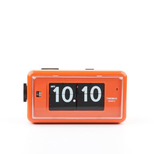 TWEMCO Alarm Flip Clock AL30 – Orange – Homeloo
