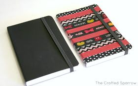 The Crafted Sparrow: Making Disney Memories - Washington tape Disney autograph books. But I like this for a Disney journal!