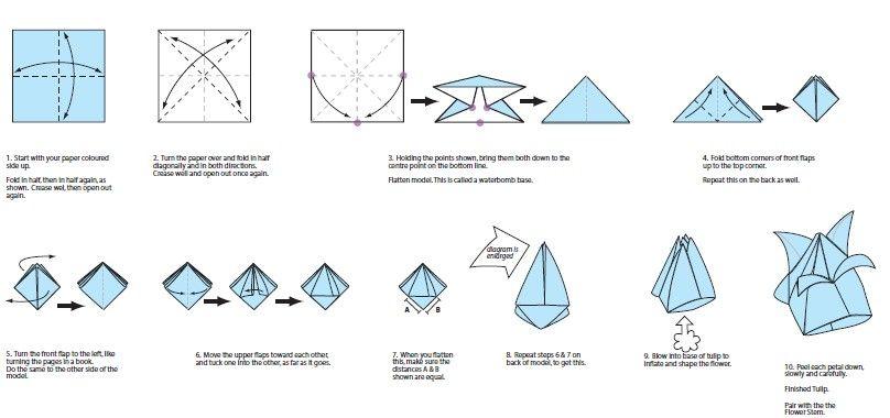 origami tulipan
