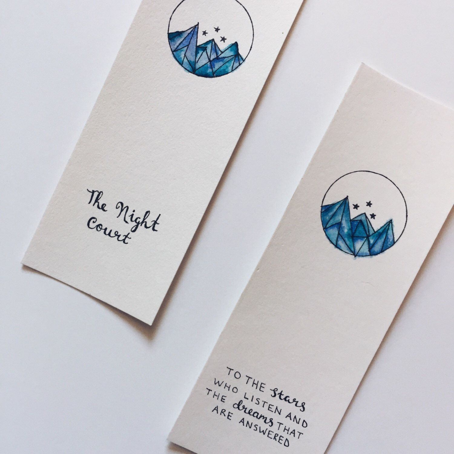 The Night Court S J Maas Watercolour Bookmark By Bloomsbery