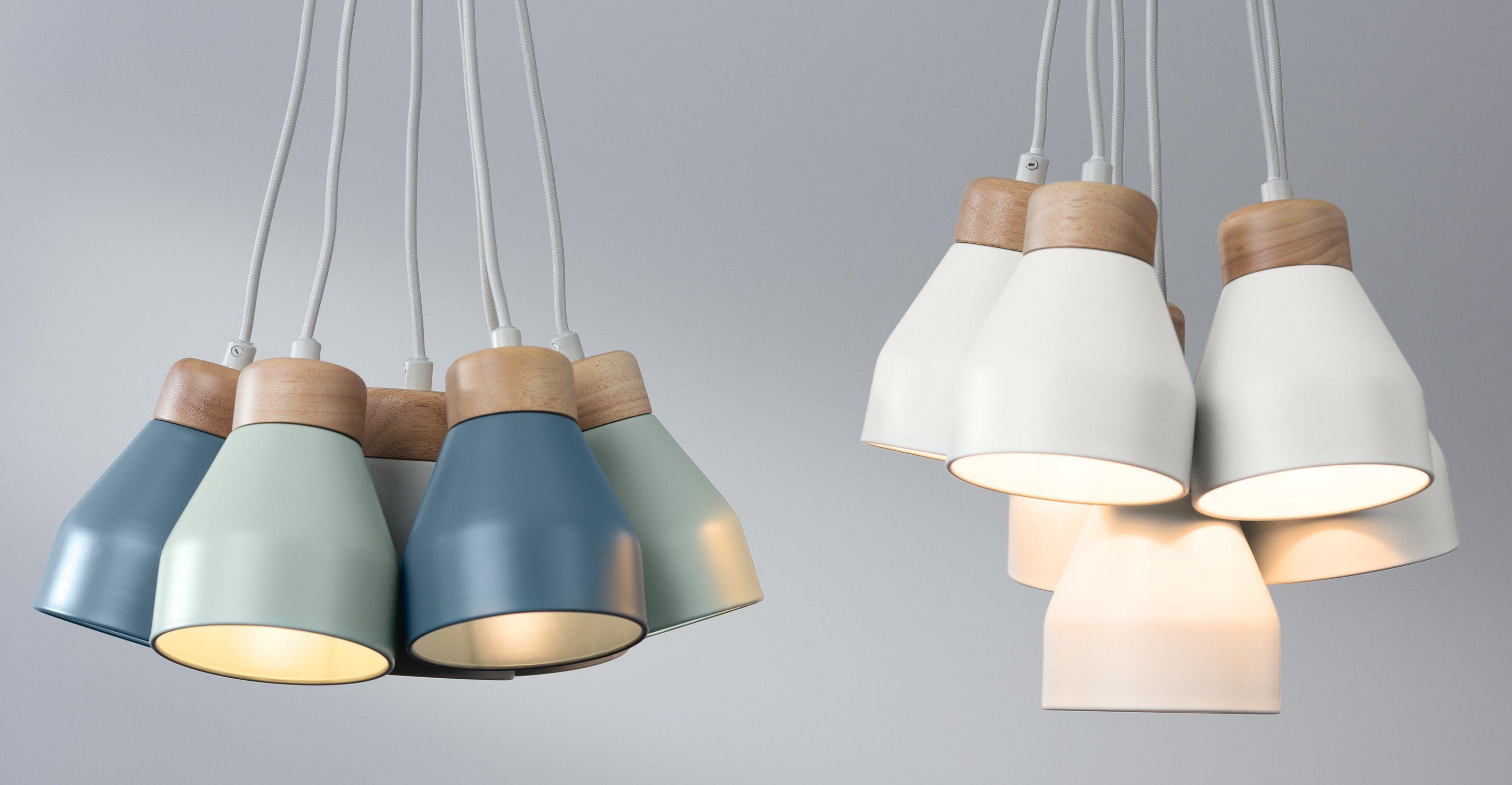 Albert Cluster Pendant Lamp Muted Grey Dusk Blue And Duck Egg Made Com Skandinavische Pendelleuchten Design Lampen Deckenleuchte Kinderzimmer