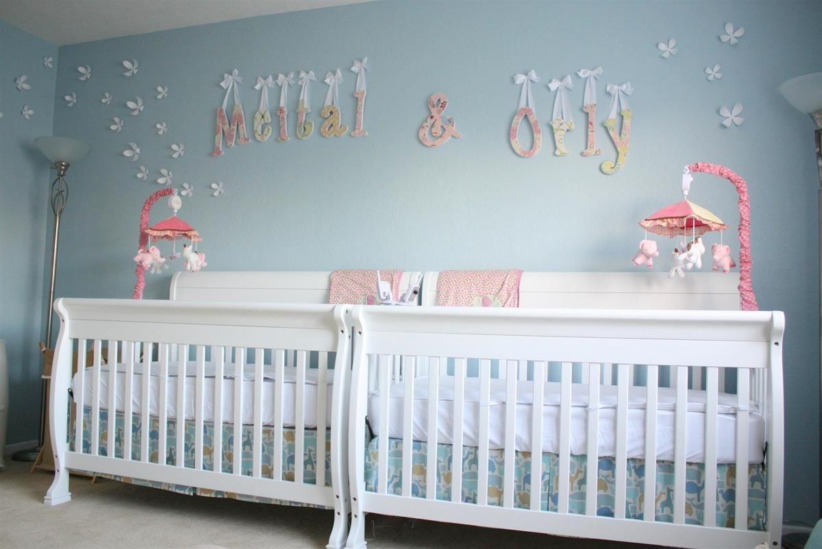 Baby Girls Nursery Ideas | ... And Delicate Nursery For Twin Girls | Chic