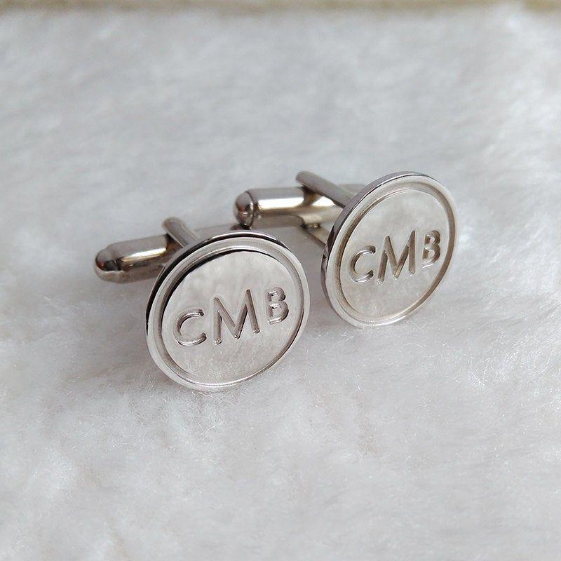 Personalized Wedding Cufflinks,Groom Wedding Cufflinks,Date and Initials Cufflinks,Engraved CuffLinks,Monogrammed CufflinksSilver Cufflinks