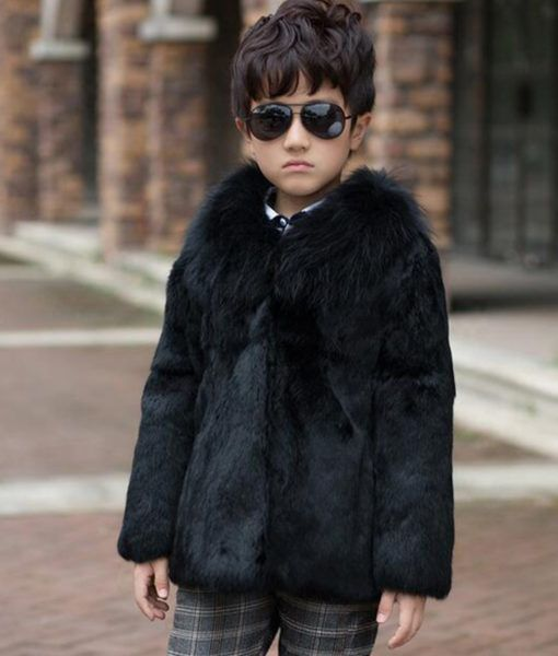 4fdefddb8bfe AliExpress   17 Children s Real Rabbit Fur Coat Winter Warm Baby ...