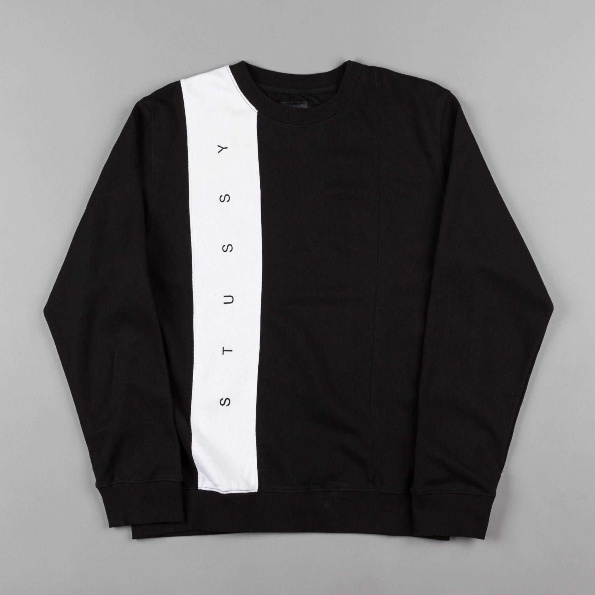 8462bfd37a8 Stussy Paneled Crewneck Sweatshirt - Black