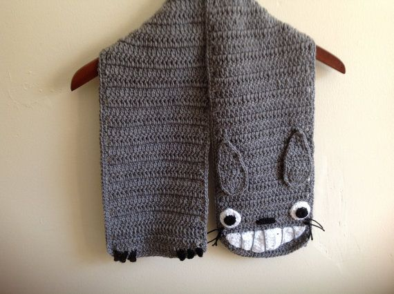 Totoro scarf custom order 65 inches by isabelfaith on Etsy, $35.00