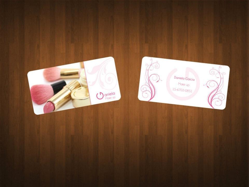 Tarjeta de presentacion para daniela make up dise o de - Disenos para tarjetas ...