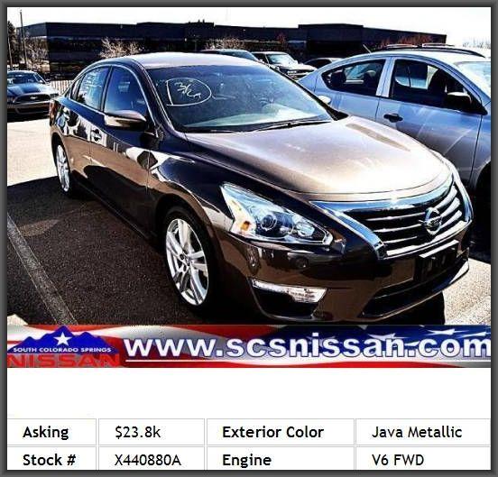 2013 Nissan Altima 3.5 S Sedan Rear Seats Center Armrest