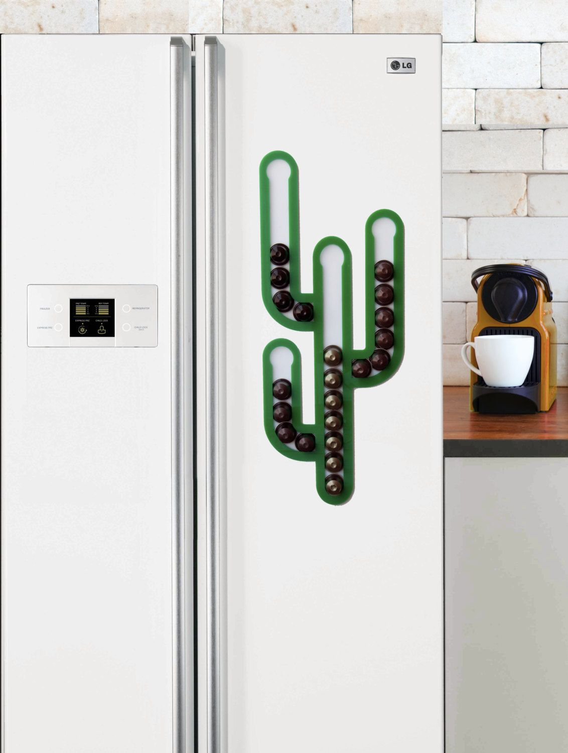 Cactus Magnetic Nespresso Coffee Capsules Holder Holds 35 Nespresso Pods  Storage Coffee Nespresso Pod Stand Kitchen Decor Housewarming Gift (59.90  USD) By ...