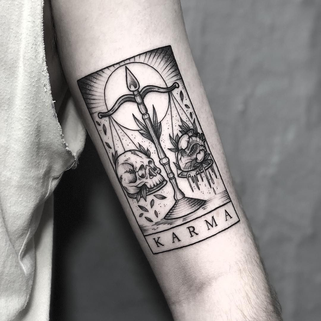 Karma Tarot For Robbie At Occulttattoo Email Lozzybonestattoo