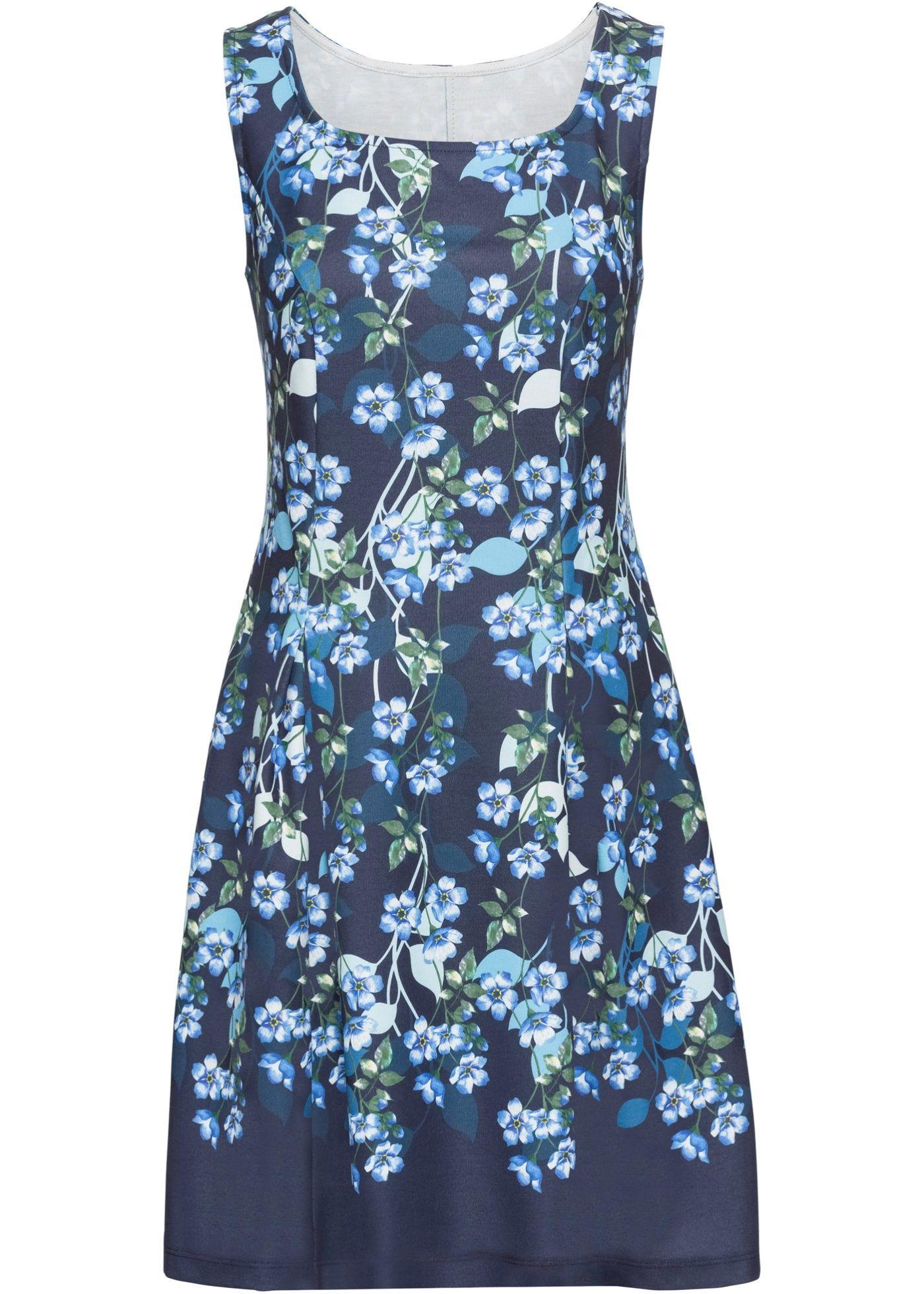 Jersey-Kleid mit Blumen-Print   Kleid arbeit, Kleider und ...