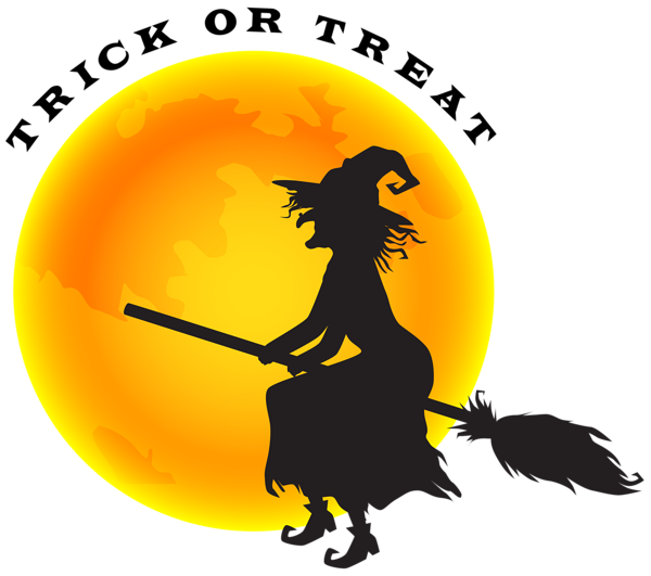 halloween witch and moon png clip art image halloween clipart rh pinterest com halloween full moon clipart halloween full moon clipart