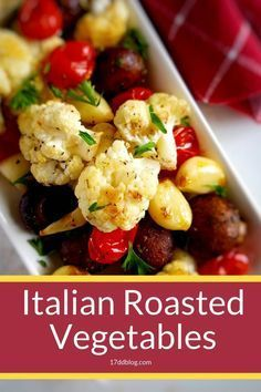 Are you bored with your usual dinner veggie routine This low carb Italian Roast