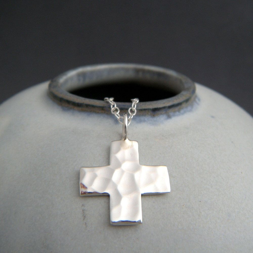 square gold aquamarine white cross small pendant