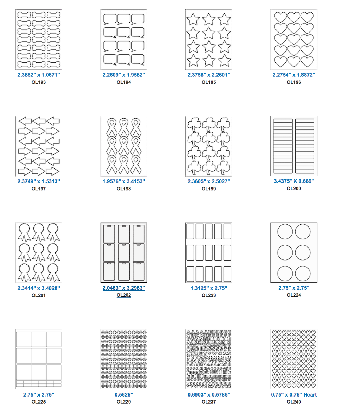 tons of free downloadable label shapes great for stickers for