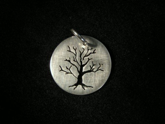 Sterling Silver Tree Silhouettes by silvervine on Etsy, $45.00