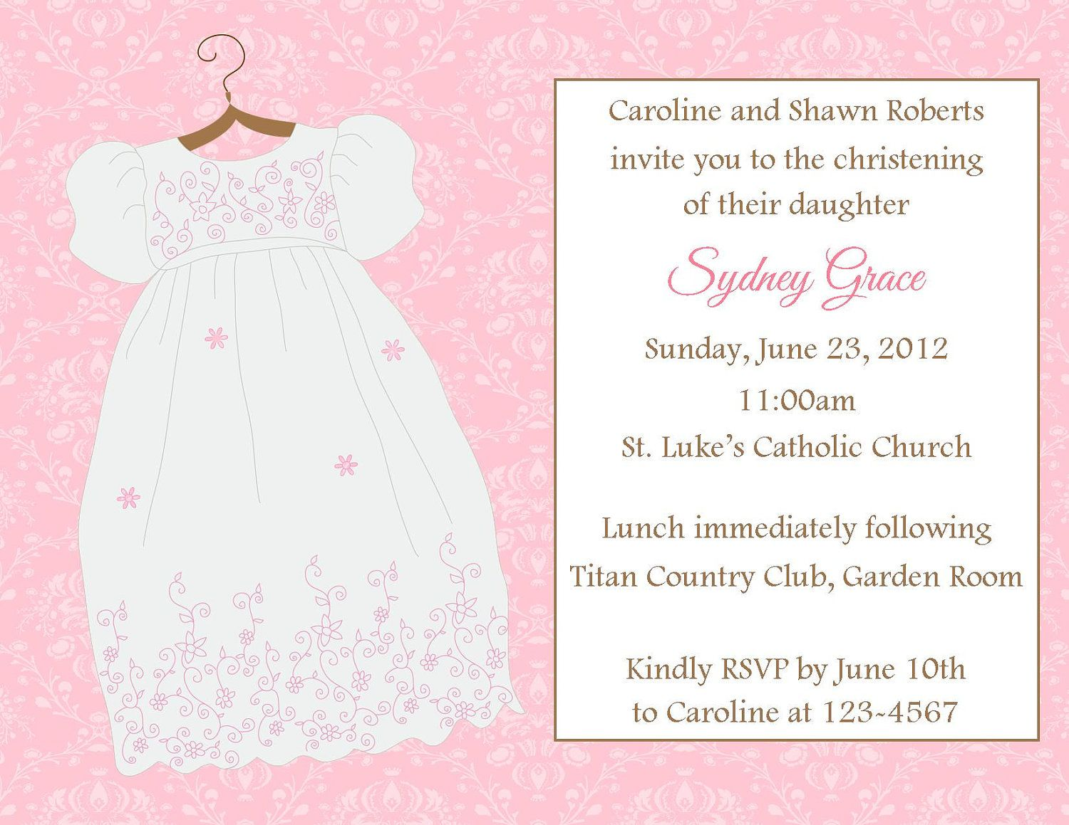 Baptism Invitations Girl was luxury invitations template