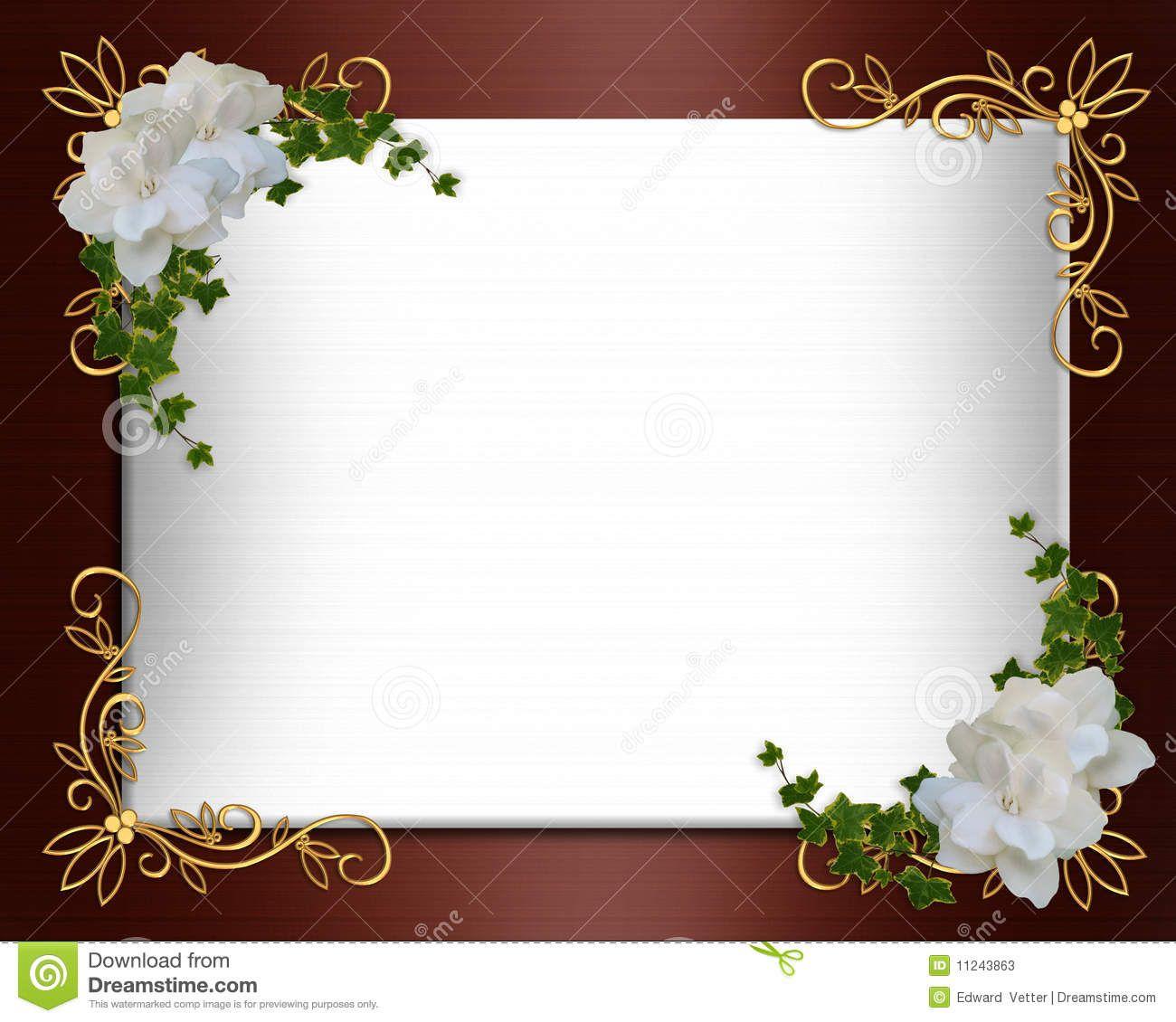 blank elegant wedding invitation designs Google Search