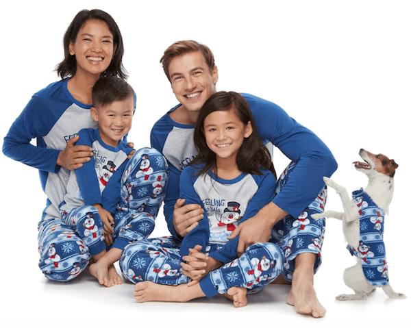 Family Christmas Pajamas Blue.Frosty The Snowman Family Matching Pajamas Holiday