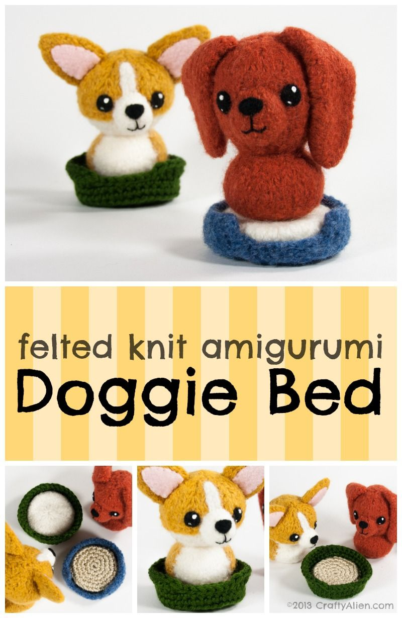 Free felted knit amigurumi dog bed pattern dog beds amigurumi free felted knit amigurumi dog bed pattern bankloansurffo Choice Image