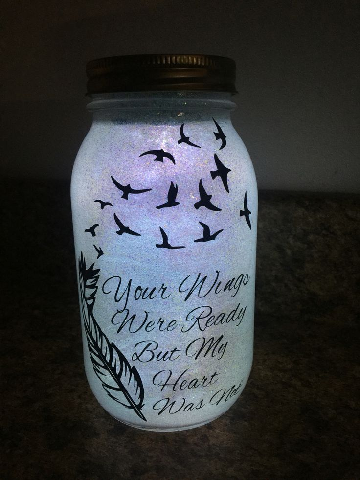 So Happy With How My Latest Craft Turned Out Solar Memory Jar What A Peaceful Memory Jar Memory Jars Mason Jar Crafts