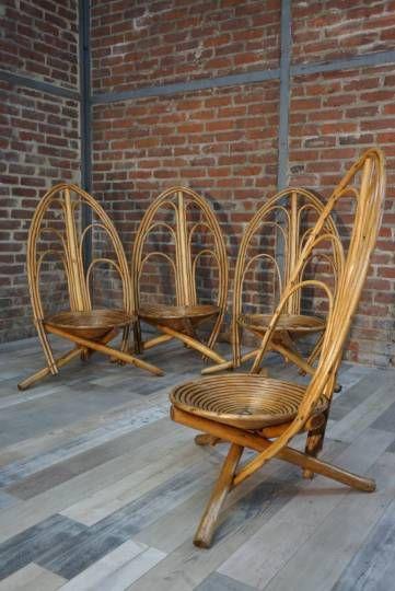 Salon de jardin ancien en rotin 1960 | Le Rotin | Pinterest