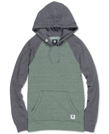 08075e40fbfd Element Men's Meridian Regular-Fit Colorblocked Raglan-Sleeve Hoodie -  Green XL