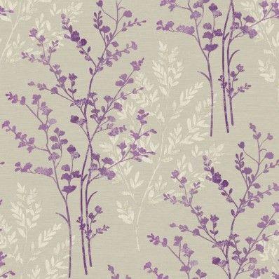 Plum Purple Cream Beige 250403 Fern Motif Arthouse Wallpaper Purple Wallpaper Bedroom Green Wallpaper Wallpaper Bedroom
