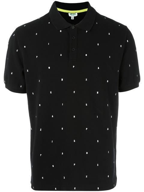 KENZO embroidered letters polo shirt. #kenzo #cloth #shirt