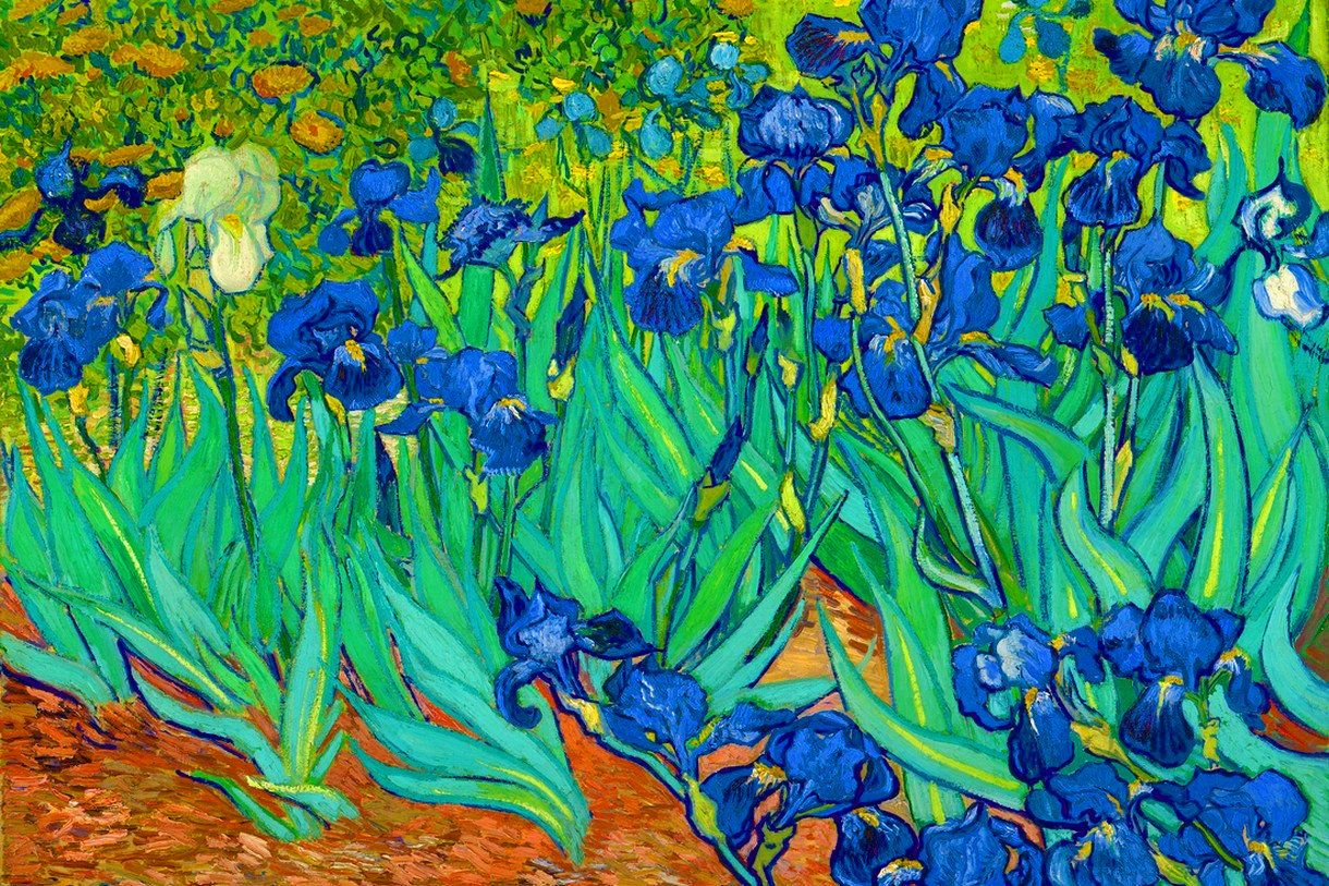 Van Gogh Iris Window Cling Vinyl Window Decal
