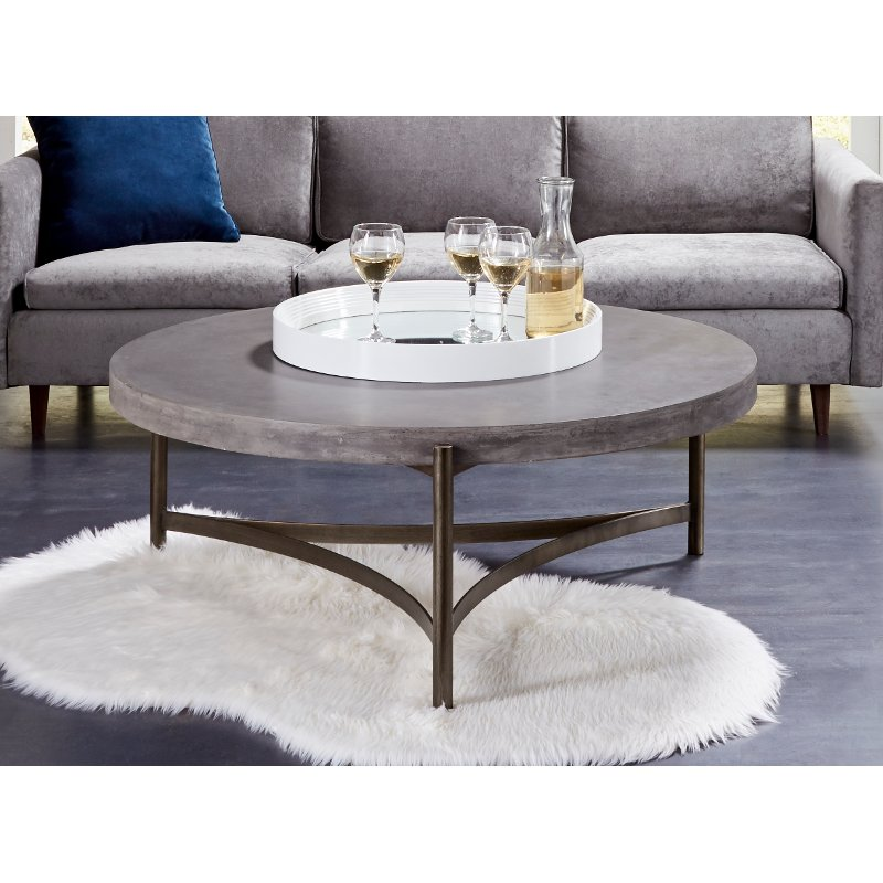 Contemporary Concrete Coffee Table Magnum Concrete Coffee
