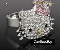 Crystal Hello Kitty with Pink and Gold Crown Ring, Adjusts to Fit All Sizes! So pretty, On CLEARANCE NOW for ONLY $6 with FREE SHIPPING!  USA Buyers only. All Purhases must be paid for within 24 hours. All Paid Items will be shipped for FREE wi...