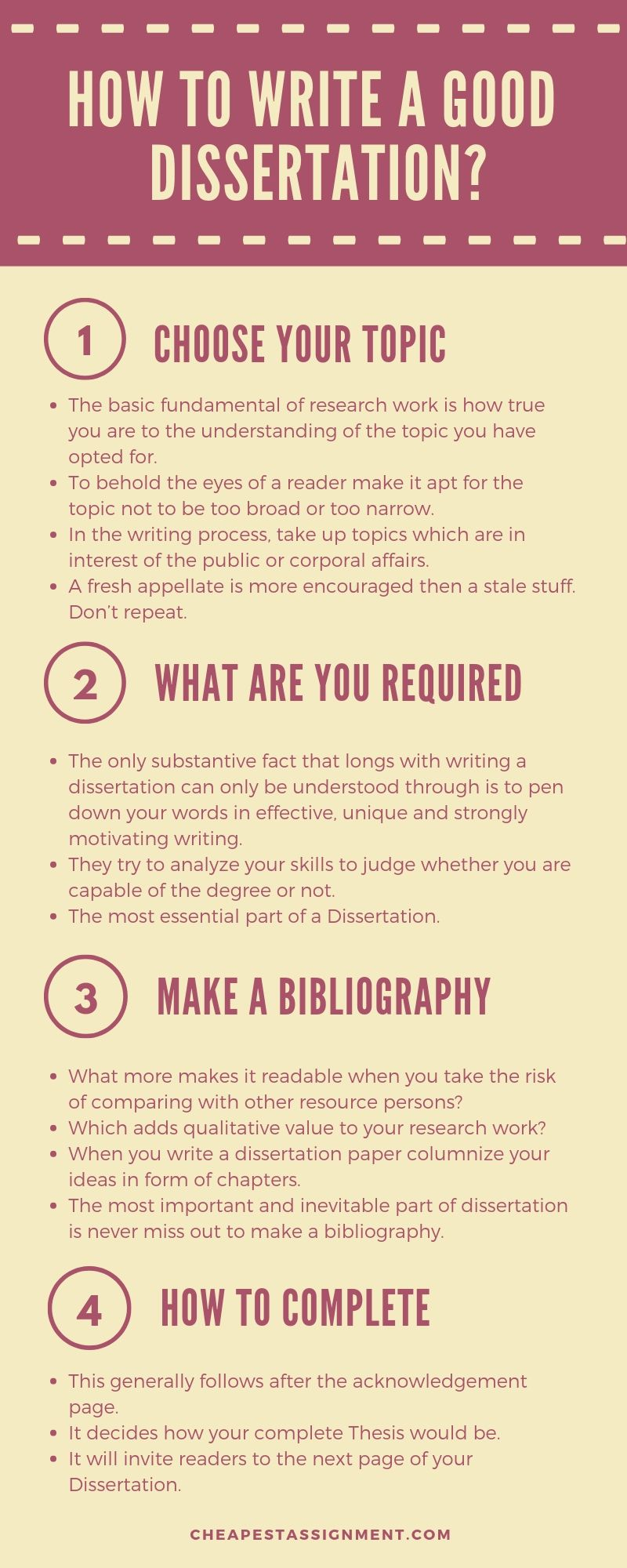 How to Write a First Class Dissertation?