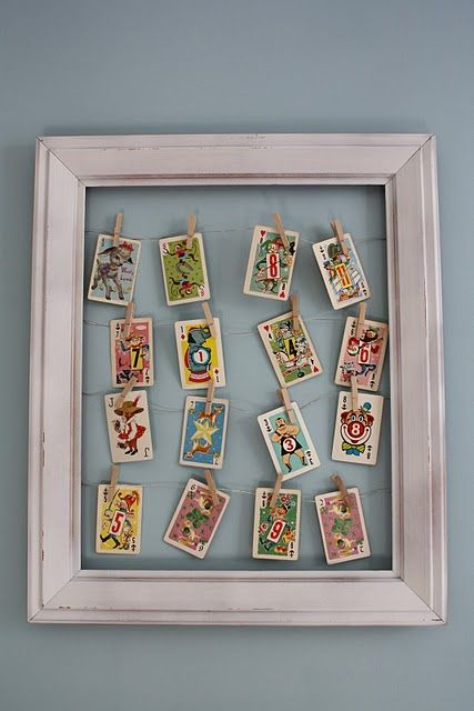 Artwork Ephemera Display In Frame Diy Would Be Great For Photos