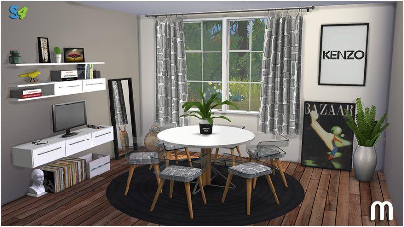 Virgil Dining By Mango Sims Liquid Sims Sims 4 Cc Furniture Living Rooms Living Room Sims 4 Sims 3 Living Room
