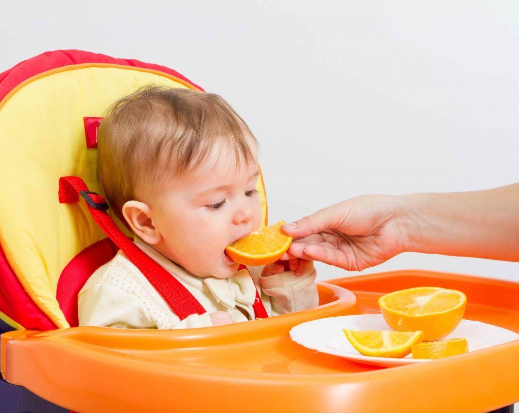 baby led weaning oranges