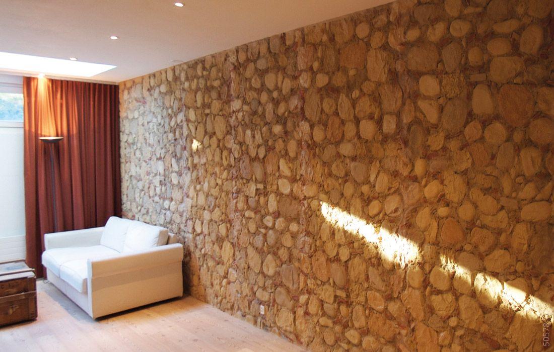 Wohnzimmerwand Stein Cal Y Canto Wandgestaltung Wohnzimmer - wandgestaltung wohnzimmer orange