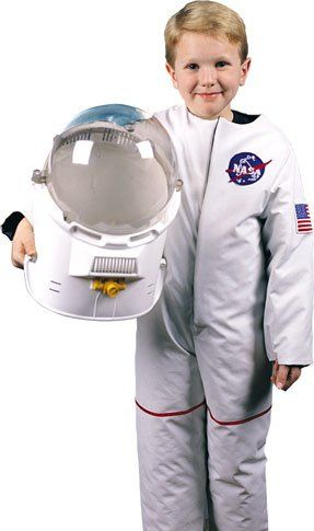 Childs Astronaut Costume Boys Girls Kids Child White NASA Space Suit