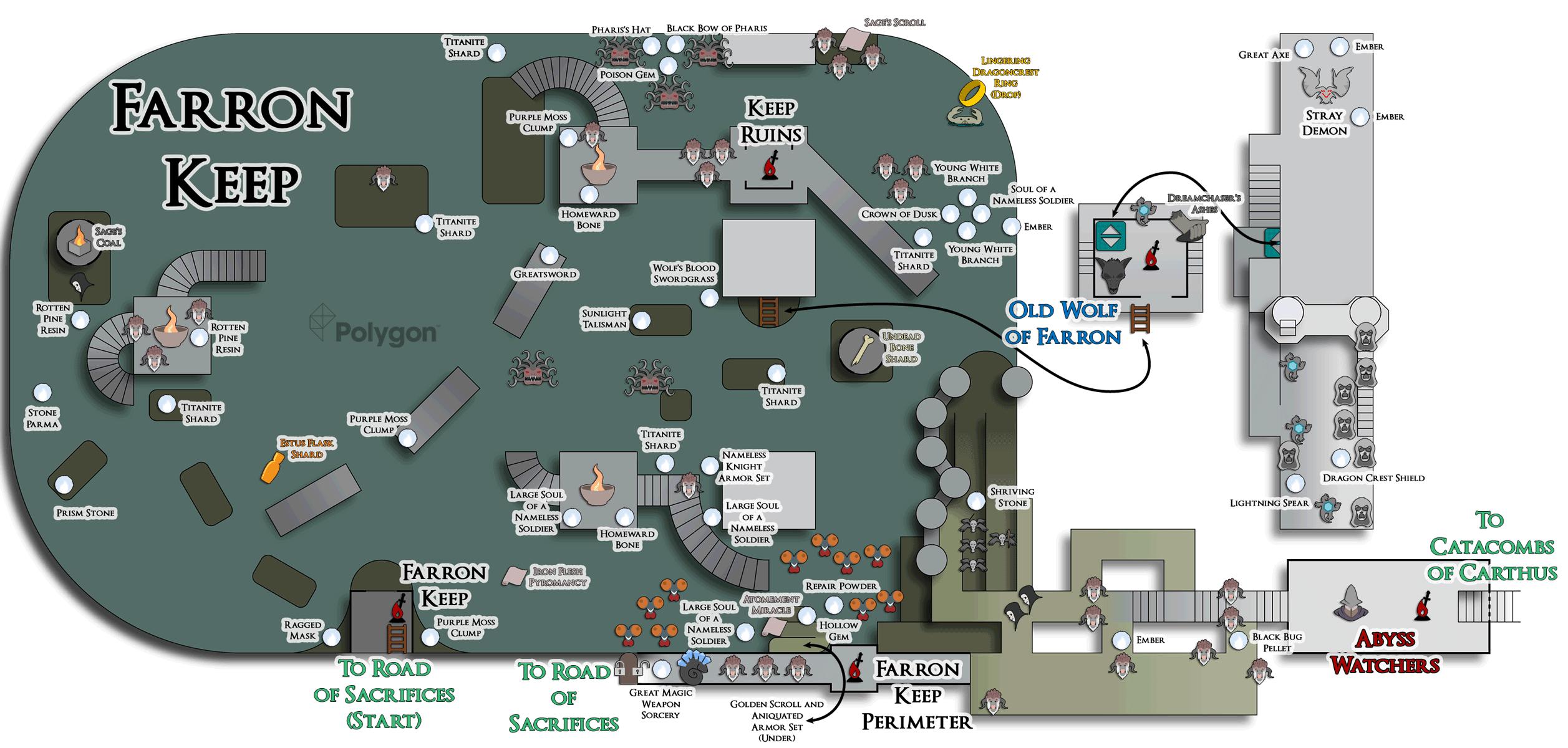 Dark Souls Catacombs Map