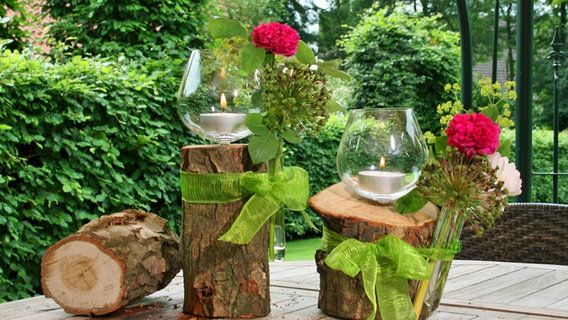 Windlichter Aus Alten Glasern Basteln Windlicht Windlicht Holz Dekoration