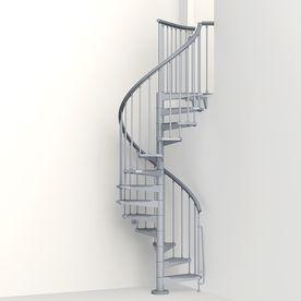 Best Arke Eureka 47 In X 10 Ft Gray Spiral Staircase Kit K21002 400 x 300