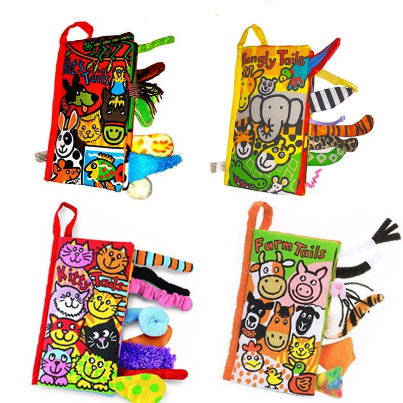 4 modelli style animal baby toys hot new infant bambini early development panno libri di apprendimento educazione attività dispiegarsi libri